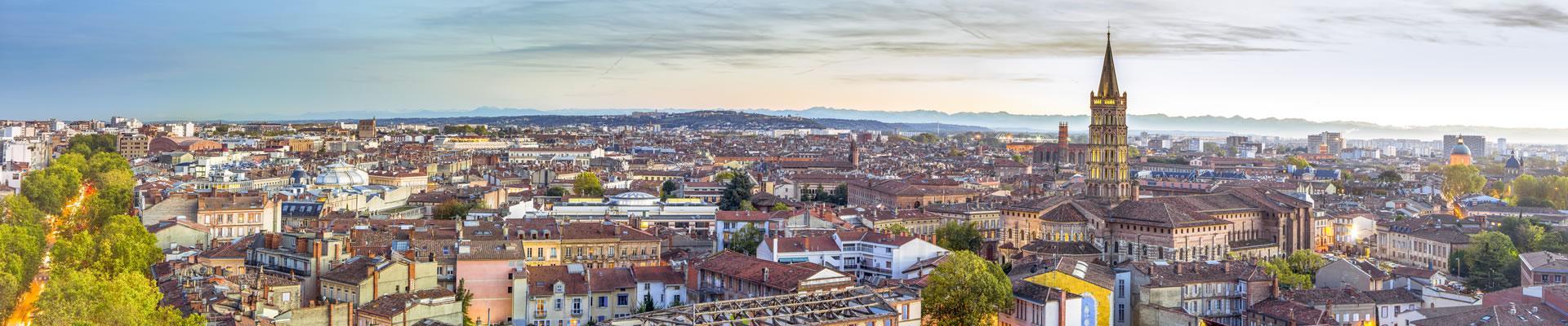 Toulouse, vue aérienne Saint-Sernin