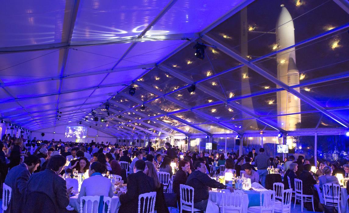 Une soirée de gala à la Cité de l'espace