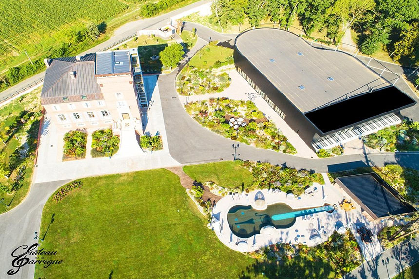 Meetings - Château de la Garrigue, vue aérienne