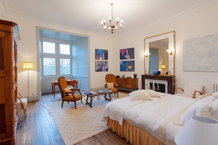 Meetings - Château St Martory - Chambre blanche