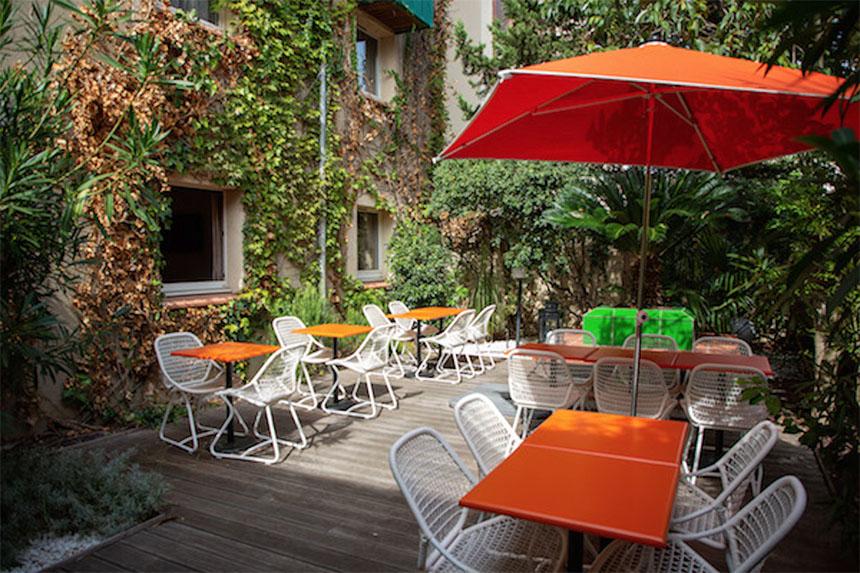 Meetings - Privilège Hôtel Mermoz, terrasse